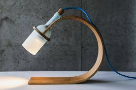 quercus desk lamp by max ashford