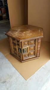 end table dog bed octagon makeover pet in process painted furniture rough looking redo beds paint