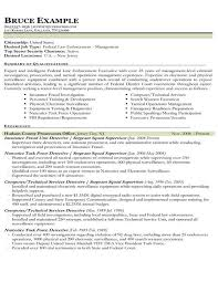 Example Of Federal Government Resumes Resume Samples Types Of Resume Formats Examples Templates