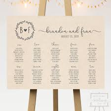 Seating Chart Wedding Kraft Wedding Seating Chart