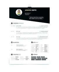One Page Resume Template Simple 2 Templates Free Download Single ...