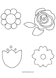 Spring Flower Template Printable Indemo Co
