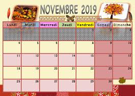 """Résultat de recherche d'images pour """"calendrier 2019 novembre decembre"""""""
