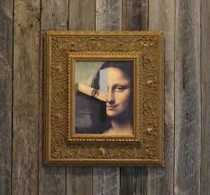 mona lisa on barnwood innovative framing design