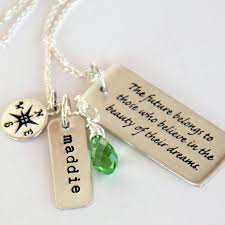 Graduation Quotes For Daughter Stunning Graduation Necklace Graduation Gift For Daughter College Etsy