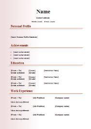 Modern Cv Template Resume Template Free Simple Resume