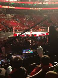 Wells Fargo Wwe Raw Seating Chart Wells Fargo Center Section 123 Row 9 Monday Night Raw