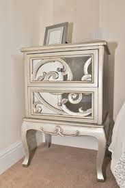 Antique Mirrored Bedside Table Antique Mirrored Bedside Table ...