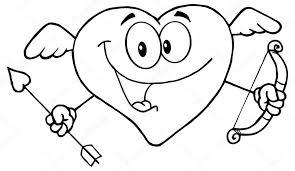 Valentine Dag Cupid Hart Stockvector Hittoon 61084639