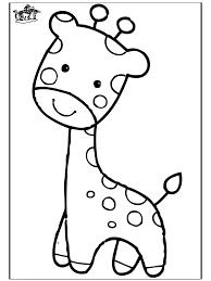 Giraffe 3 Retro Giraf Kleurplaten Baby Giraffen En Kleurboek