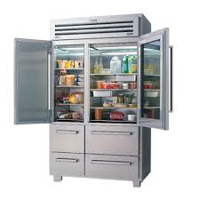 decoration, Foxy Glass Door Refrigerator With Fresh Milk Side Two Bottle In  The Right Door