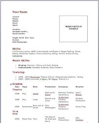 Actors Resume Example Cool Resume Sample For Beginners Complete