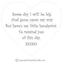 Little Handprints Poem   Mothers Day Poems For Children Handprints ...