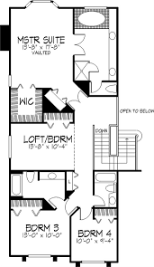 1 1 2 story house plans. Floor Plan Second Story 1 2 House Plans B