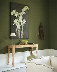 h g green green walls living room