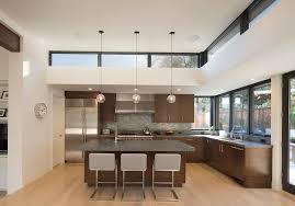 suspended track lighting kitchen modern. San Francisco Suspended Track Lighting With Contemporary Wall And Floor Tiles Kitchen Corner Window Sink In Modern L