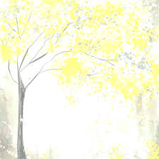 yellow and grey painting yellow grey wall art yellow and gray tree painting by intended for