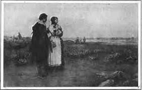 priscilla carpenter plymouth | John Alden and Priscilla Mullins | Saints,  strangers, May flowers, Art