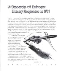 gabrielle david s portfolio my work essay a decade of echoes literary responses to 9 11 2011 phati tude literary magazine bridging the cultural divide remembering 11th