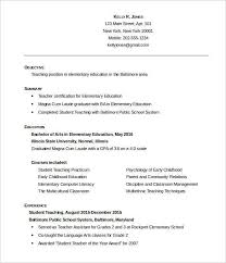 Student Teaching Resume Amazing Teachers Resume Format Complete Guide Example