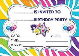 Children Birthday Invitations Boys Girls Unisex Childrens Birthday Party Invites
