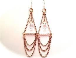 custom made bohemian chain chandelier earrings