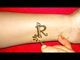 Letters For Tattoos Template Delectable DIY ''R'' Letter Henna Tattoo Alphabet R Letter Mehndi Design