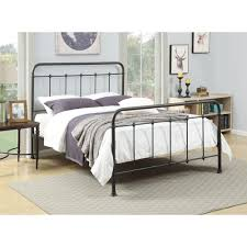 Metal Bed Frame With Headboard And Footboard Queen Size Vecelo ...
