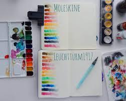 Leuchtturm1917 Vs Moleskine The Bullet Journal Watercolor Test