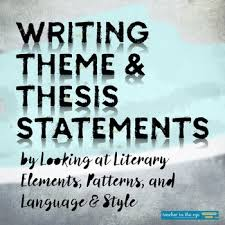 Image result for theme and thesis