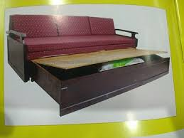wooden modern sofa bed with storage