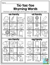 Small Picture Rhyming Words Match Rhyming words Printable worksheets and Phonics