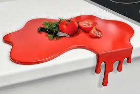 blood splatter cutting board - unique kitchen gadgets - cool cutting boards