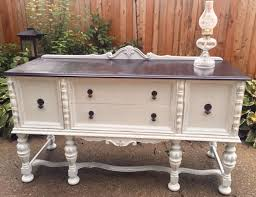white furniture shabby chic. VintageVintage Ornate Buffet/Shabby Chic Buffet/1930\u0027s Buffet/white Furniture/stained Top White Furniture Shabby
