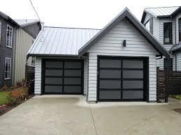 black garage door northwest door full view aluminum modern classic garage door modern shed hammerite black