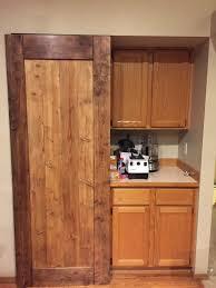 Barn Door In Kitchen Andrews Tech Page Custom Kitchen Pantry Barn Doors