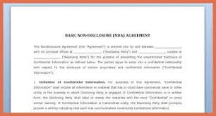 Awesome Non Disclosure Agreement Template Beautiful Non Disclosure ...