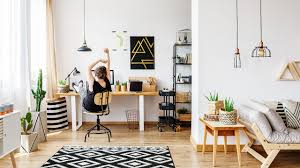 working for home office. Woman In Home Office Working For I