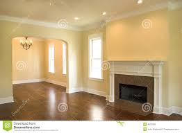 Living Room With A Fireplace Empty Living Room With Fireplace Royalty Free Stock Photos Image