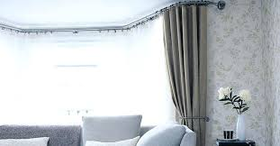 imposing bay window curtain pole for eyelet curtains pictures design