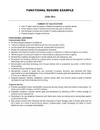 Job Summary Examples For Resumes Resume Career Change Qualifications