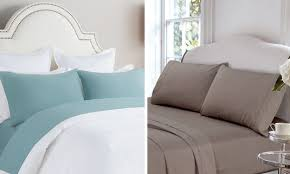 a bed with flannel sheets and a bed with cotton sheets