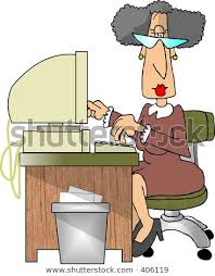 secretary desk clipart. Plain Desk Clipart Illustration Of A Secretary For Secretary Desk B