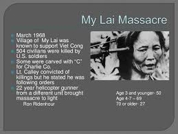 「president johnson and the massacre at My Lai,」の画像検索結果