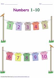 Preschool Number Chart 1 10 Number Charts