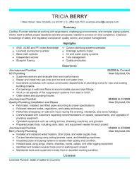 Plumbing Resumember Objective Statement Apprentice Templates