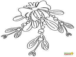 Small Picture mistletoe coloring page 100 images mistletoe and poinsettia
