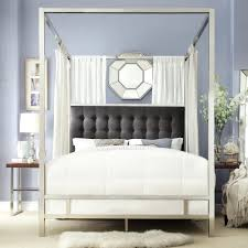full size canopy bed chrome metal poster by inspire q . full size canopy bed  ...