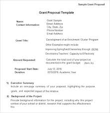 Sample Funding Proposal Template Grant Research Pdf Opusv Co