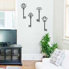 old keys wall decal dragon decals fairy key hooks for the wall vintage keys wall